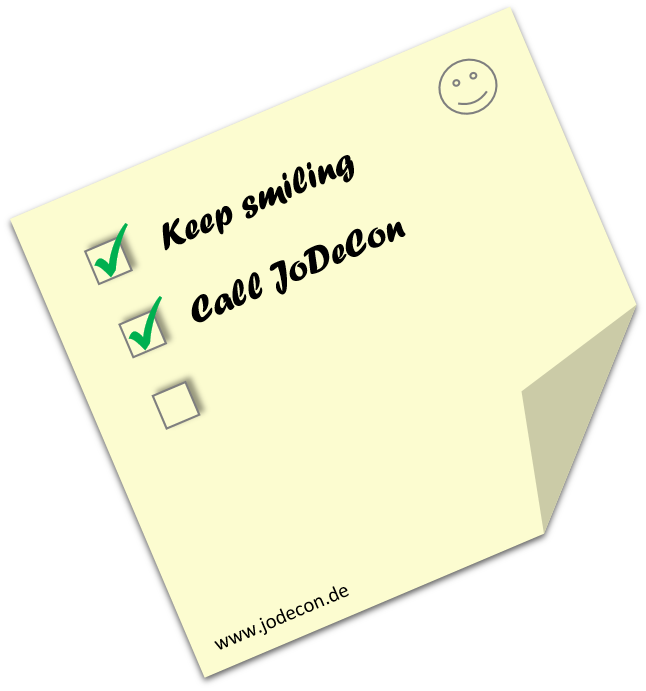 post it - call JoDeCon