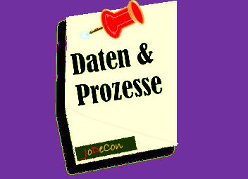 Memo mit Pin: Daten & Prozesse